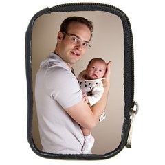 Father And Son Hug Compact Camera Leather Case