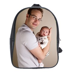 Father And Son Hug School Bag (large)