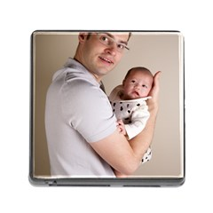 Father and Son Hug Memory Card Reader with Storage (Square)