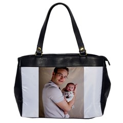 Father and Son Hug Oversize Office Handbag (One Side)