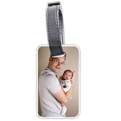 Father and Son Hug Luggage Tag (one side)