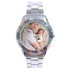 Father And Son Hug Stainless Steel Analogue Men's Watch