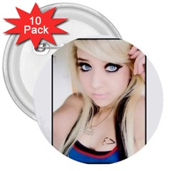 Testgirl3 3  Button (10 Pack)
