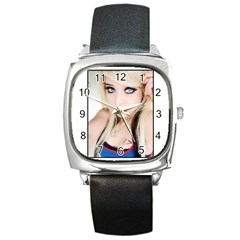 testgirl3 Square Metal Watch