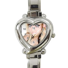 testgirl3 Heart Italian Charm Watch