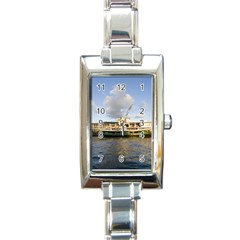 Hong Kong Ferry Rectangular Italian Charm Watch
