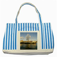 Hong Kong Ferry Striped Blue Tote Bag