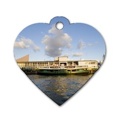 Hong Kong Ferry Dog Tag Heart (one Side)