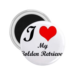 I Love My Golden Retriever 2.25  Magnet