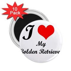 I Love My Golden Retriever 2.25  Magnet (10 pack)