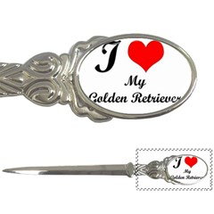 I Love My Golden Retriever Letter Opener