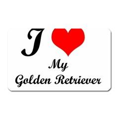 I Love My Golden Retriever Magnet (Rectangular)