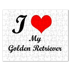 I Love My Golden Retriever Jigsaw Puzzle (Rectangular)