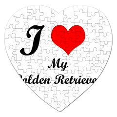 I Love My Golden Retriever Jigsaw Puzzle (heart)