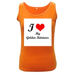 I Love My Golden Retriever Women s Dark Tank Top