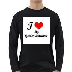 I Love My Golden Retriever Long Sleeve Dark T-Shirt