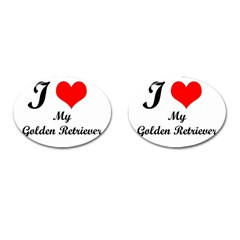 I Love My Golden Retriever Cufflinks (Oval)