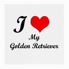 I Love My Golden Retriever Glasses Cloth (medium)