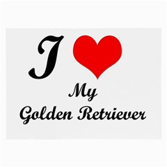 I Love My Golden Retriever Glasses Cloth (large)
