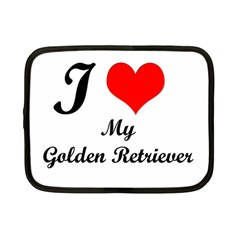 I Love My Golden Retriever Netbook Case (small)