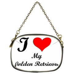 I Love My Golden Retriever Chain Purse (One Side)