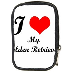I Love My Golden Retriever Compact Camera Leather Case