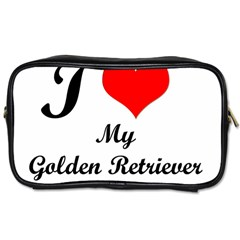 I Love My Golden Retriever Toiletries Bag (One Side)