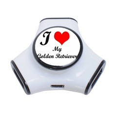 I Love My Golden Retriever 3 Port Usb Hub