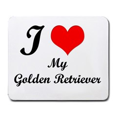 I Love My Golden Retriever Large Mousepad