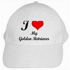 I Love Golden Retriever White Cap