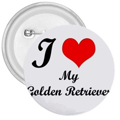 I Love Golden Retriever 3  Button