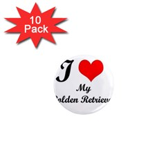I Love Golden Retriever 1  Mini Magnet (10 pack)