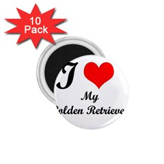 I Love Golden Retriever 1.75  Magnet (10 pack)