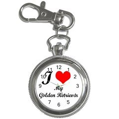 I Love Golden Retriever Key Chain Watch