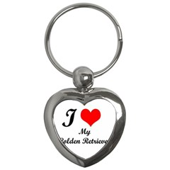 I Love Golden Retriever Key Chain (Heart)