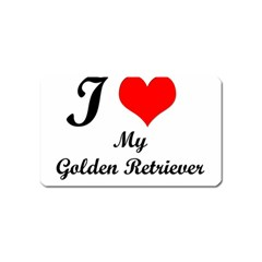 I Love Golden Retriever Magnet (Name Card)