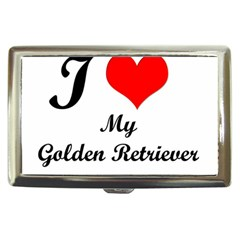 I Love Golden Retriever Cigarette Money Case