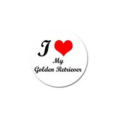 I Love Golden Retriever Golf Ball Marker