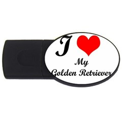 I Love Golden Retriever Usb Flash Drive Oval (2 Gb)