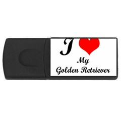 I Love Golden Retriever USB Flash Drive Rectangular (2 GB)
