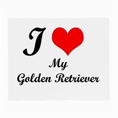 I Love Golden Retriever Glasses Cloth (Small)