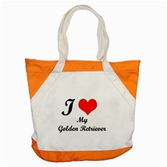 I Love Golden Retriever Accent Tote Bag