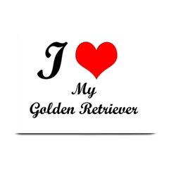 I Love Golden Retriever Place Mat