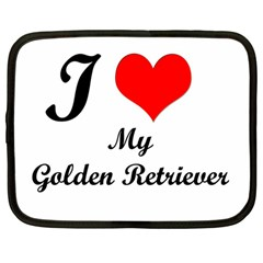 I Love Golden Retriever Netbook Case (large)