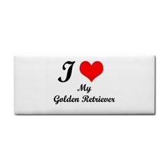 I Love Golden Retriever Hand Towel