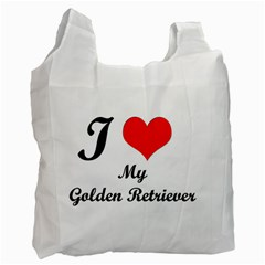 I Love Golden Retriever Recycle Bag (One Side)