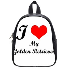 I Love Golden Retriever School Bag (small)