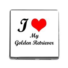 I Love Golden Retriever Memory Card Reader (Square)