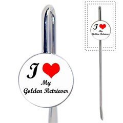 I Love Golden Retriever Book Mark