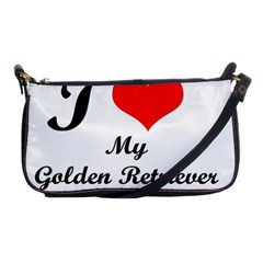 I Love Golden Retriever Shoulder Clutch Bag